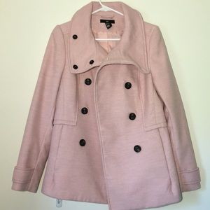 H&M Pink Double-Breasted Coat